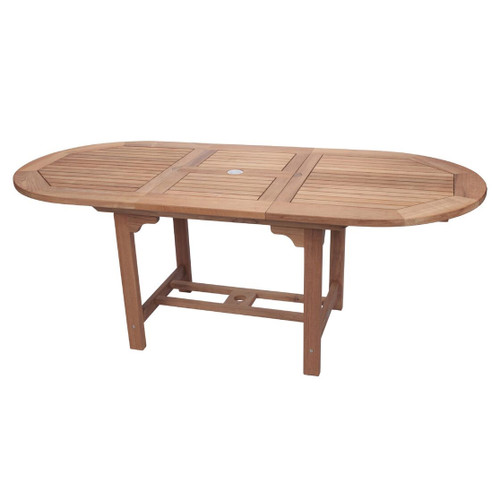 Medium Teak Oval Expansion Table