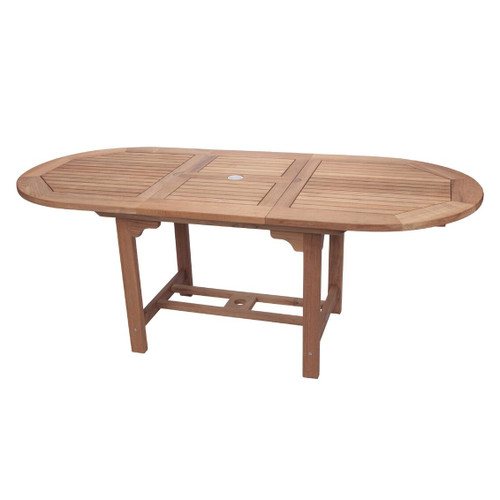 Large Teak Oval Expansion Table