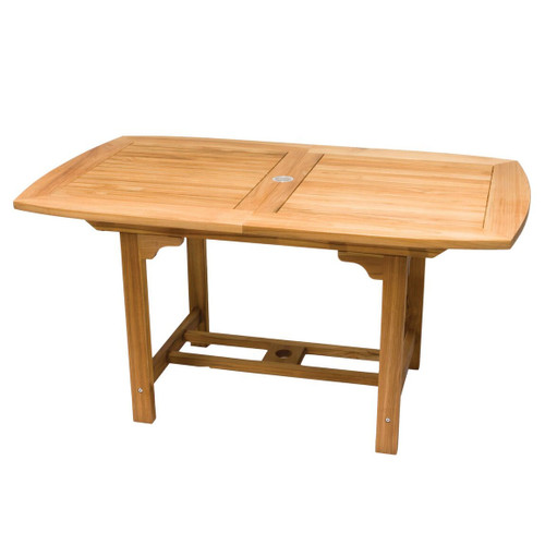 Small Teak Rectangular Expansion Table