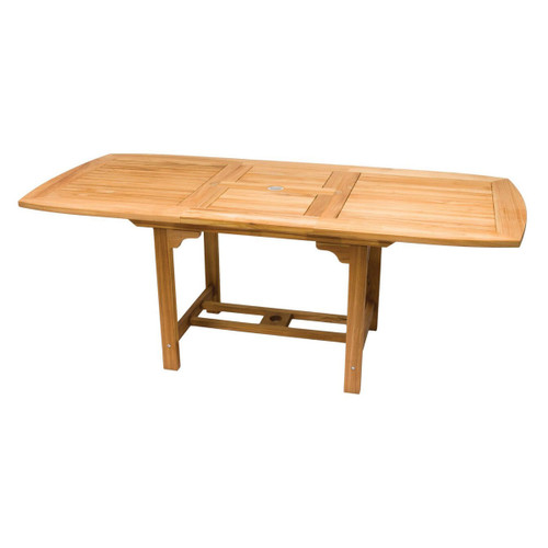 Large Teak Rectangular Expansion Table