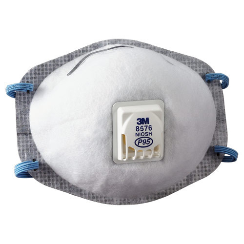 3M Particulate Respirator 8576 P95 with Nuisance Level Acid Gas Relief - Box of 10