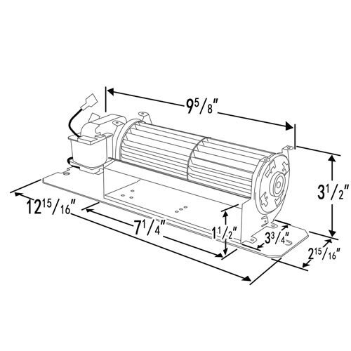 Napoleon GZ550 Replacement Fireplace Blower Kit - P58L180