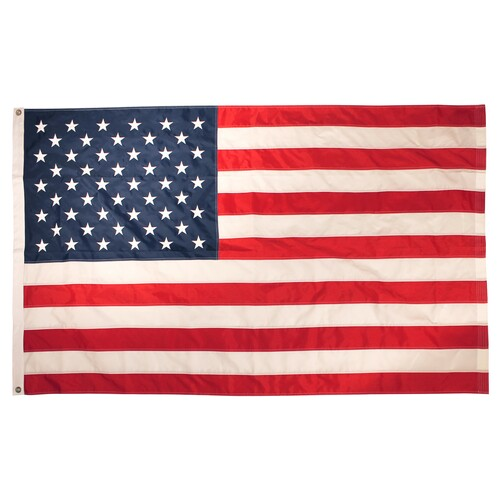 US Flag 3ft x 5ft Sewn Nylon with grommets (Imported)