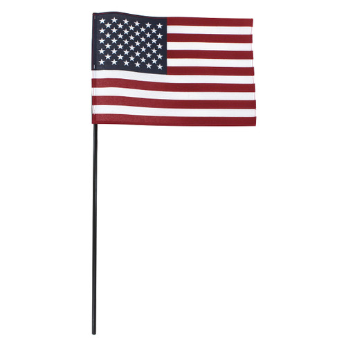 Super Tough US Stick Flag 8x12in, Black Stick, No Tip