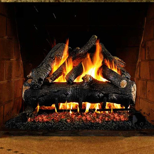 Realistic logs and flame presentation