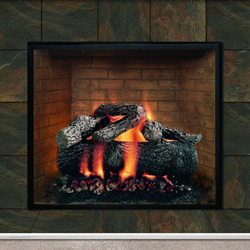The Premium Fire Oak Set has 6 logs and carries a lifetime warranty against breakage