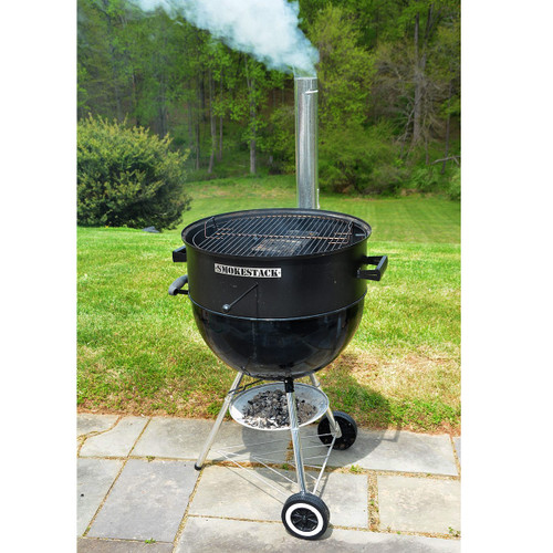 """SmokeStack Smoker Conversion for a 22"""" Kettle Grill"""