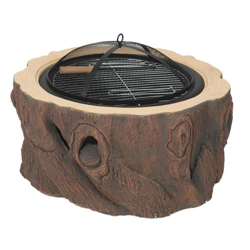 Wood Stump Design Fire Pit