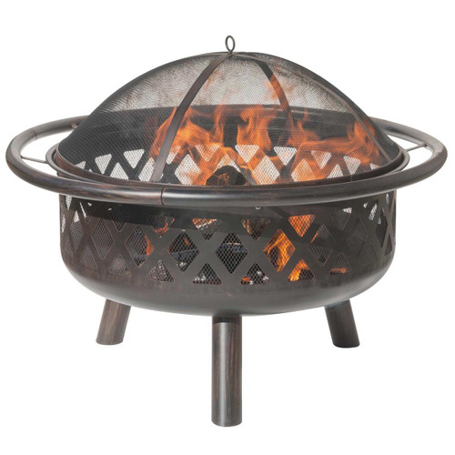 Bronze Criss Cross Style Design Fire Pit