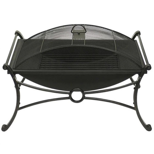 Rectangular Design Bronze & Black Fire Pit