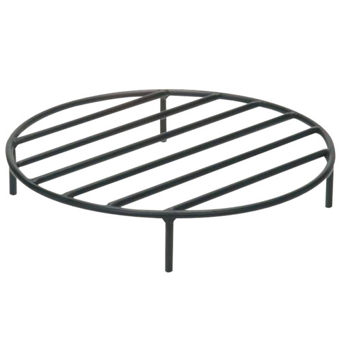 "19"" Black Steel Fire Pit Grate"