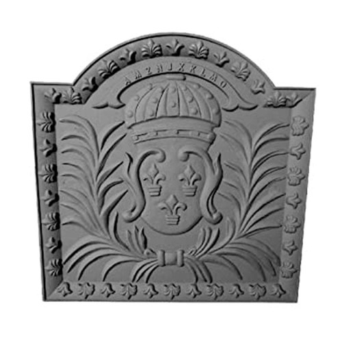Black Cast Iron Medallion Fireback
