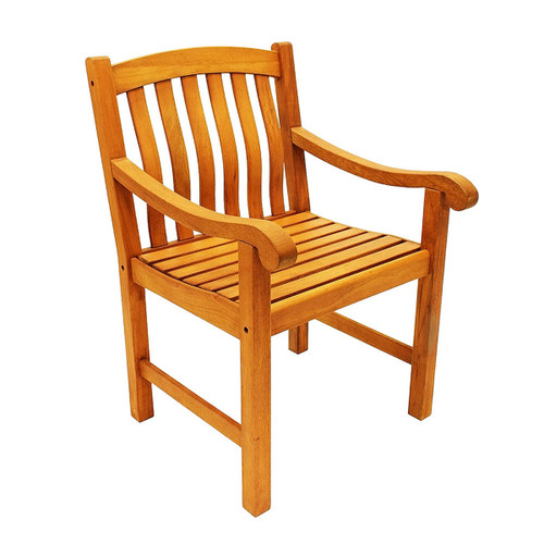 Teak Patio Dining Armchair