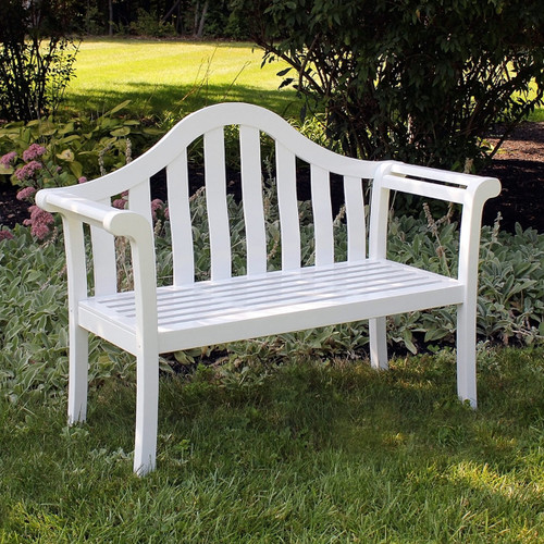 White Camelback Bench