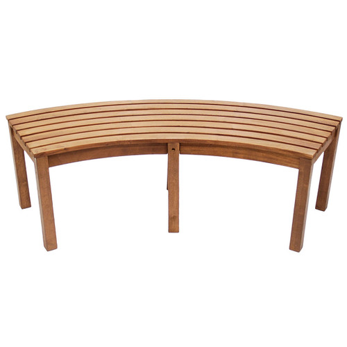 Curved Backless Bench