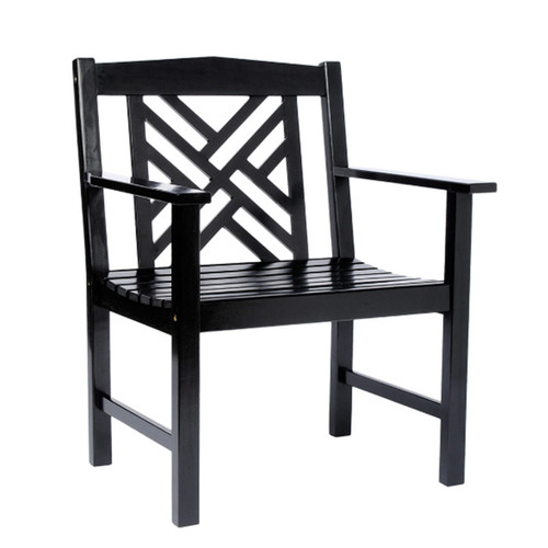 Black Fretwork Chair