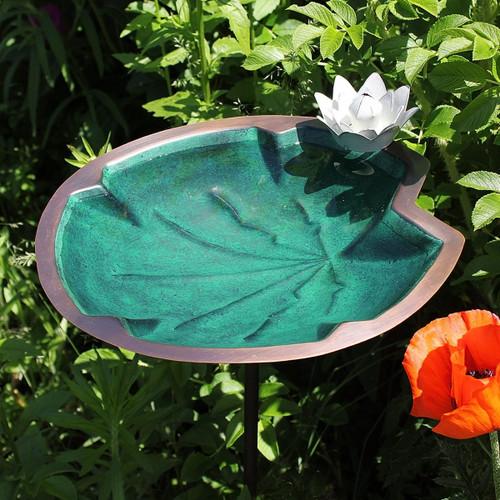 Lily Pad Bird Bath