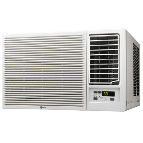 11,500/12,000 BTU 230V Window-Mounted Air Conditioner with 9,200/11,200 BTU Supplemental Heat Function