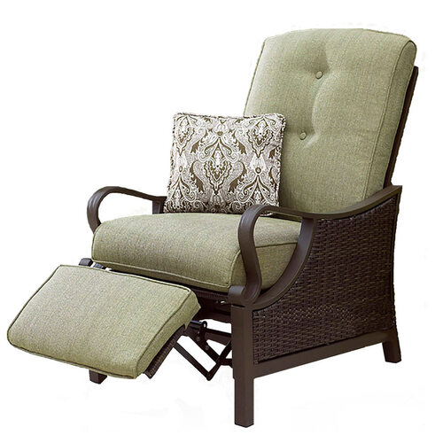 Ventura Outdoor Luxury Recliner in Vintage Meadow