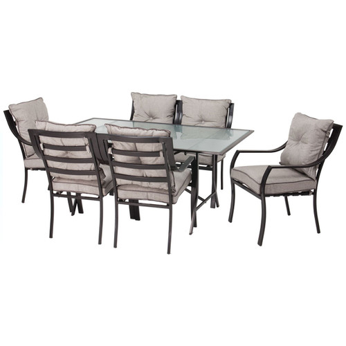 Lavallette 7-Piece Outdoor Dining Set in Gray