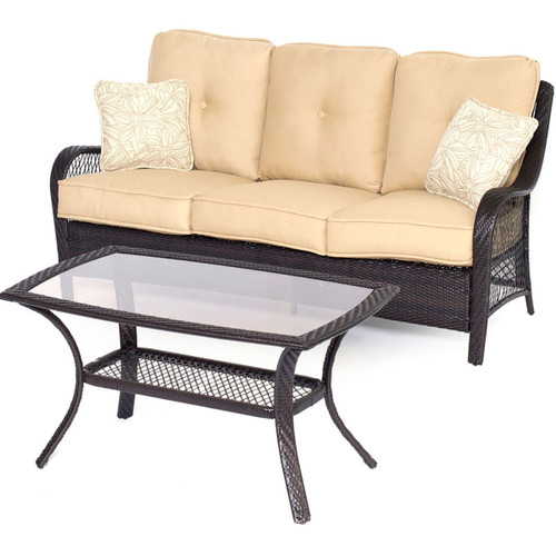 Orleans 2-Piece Patio Set in Sahara Sand