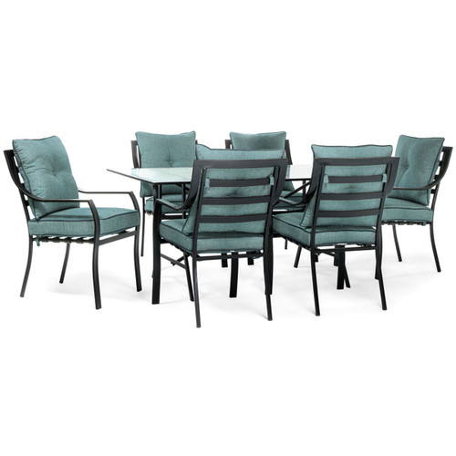 Lavallette 7-Piece Outdoor Dining Set in Ocean Blue