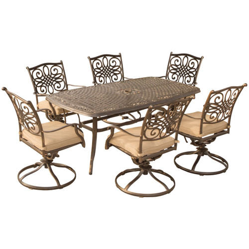 Traditions 7-Piece Dining Set in Gold