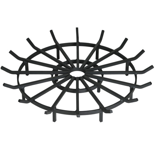 Heavy Duty Wagon Wheel Outdoor Fire Pit Grate- 36 inch Diameter