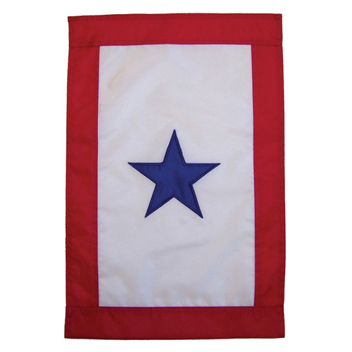 Service Star Applique Garden Flag
