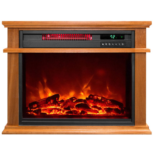 LifeSmart Traditional Infrared Fireplace Heater