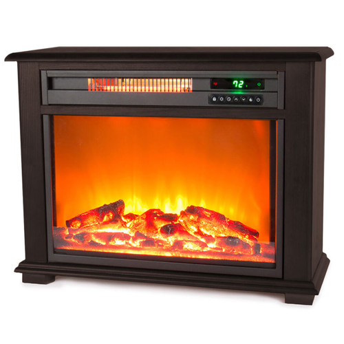 LifeSmart Fireplace Heater in Dark Walnut