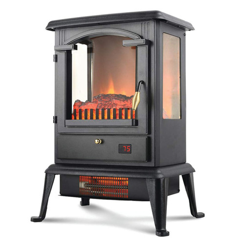 LifeSmart 3 Sided Flame View Infrared Stove Heater