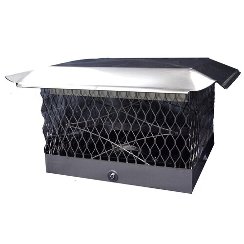 "The Top Damper Plus Chimney Cap/Damper- 13"" x 18"""