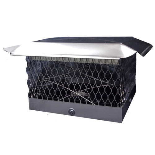 "The Top Damper Plus Chimney Cap/Damper - 8"" x 17"""