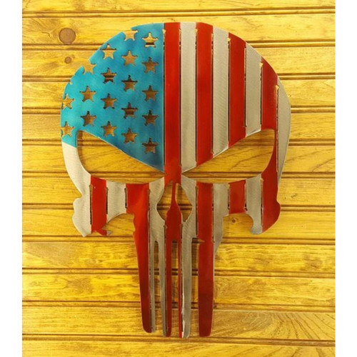 "15"" Decorative Metal Art - Punisher"