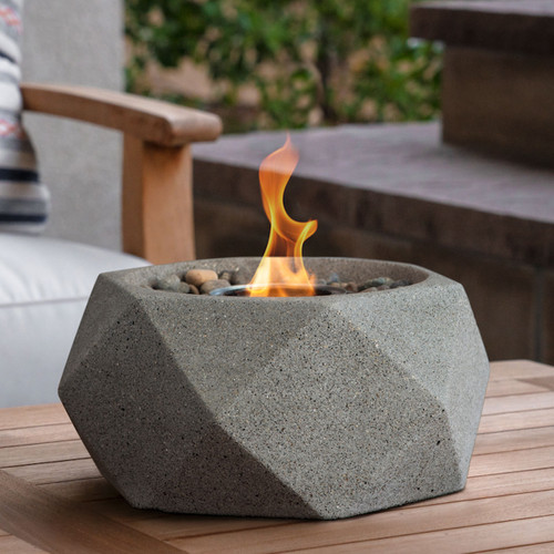 Geo Fire Bowl - Pewter
