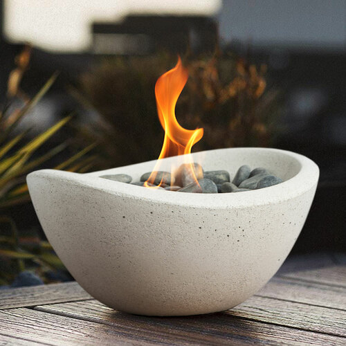 Wave Fire Bowl - White