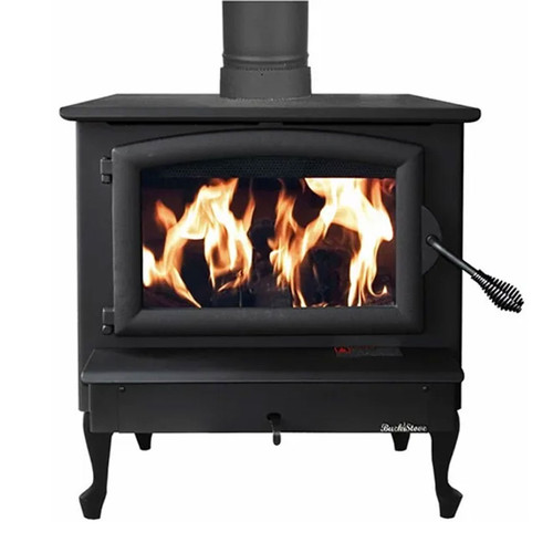 Wood Stove with Black Door - Model 74