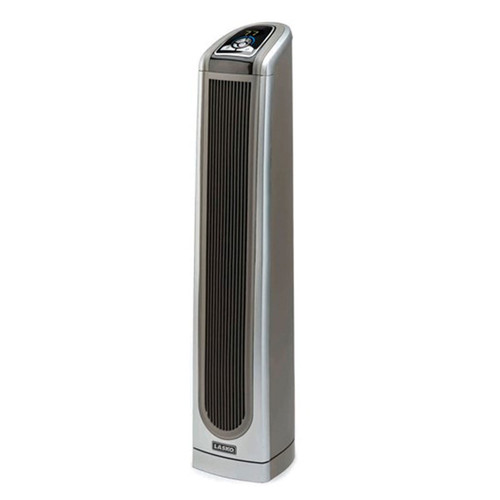 Electronic Ceramic Tower Heater w/ Logic Center Remote - Grey