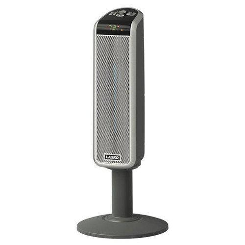 "30"" Digital Ceramic Pedestal Heater - Gray"