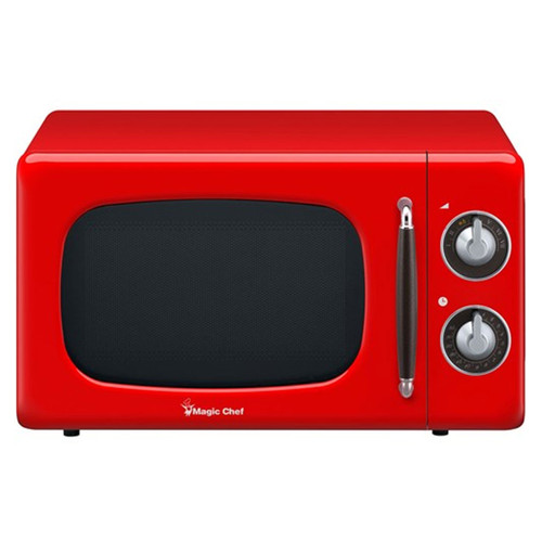 0.7 Cu. Ft. Retro Countertop Microwave - Red