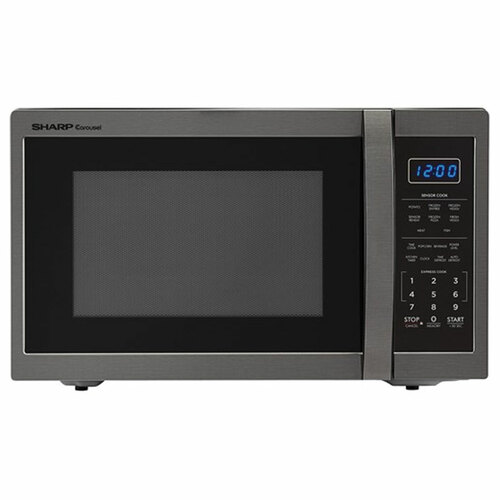 Sharp 1.4 Cu. Ft. Countertop Microwave - 1100 Watt - Black / Stainless