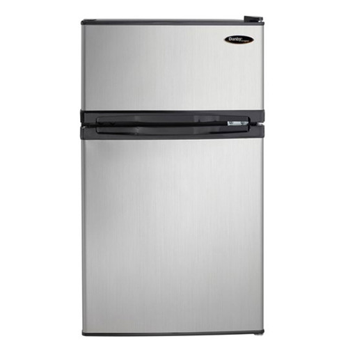 Danby 3.1 Cu. Ft. Compact Refrigerator w/ Independent Freezer  - Black / Stainless - DCR031B1BSLDD