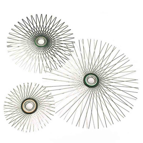12'' Round Viper Star Flat Wire Brush For 10'' Flue