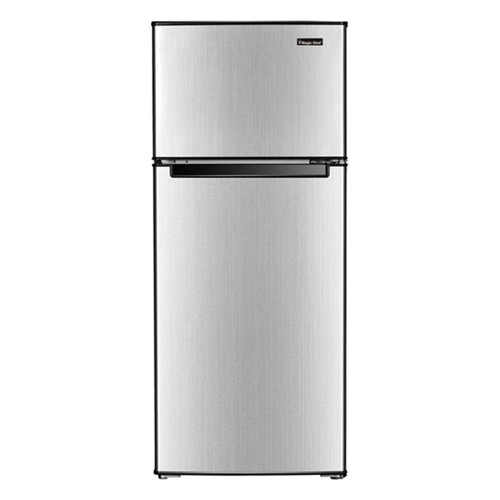 Magic Chef 4.5 Cu. Ft. Refrigerator w/ Independent Freezer Section  - Stainless - MCDR450SE