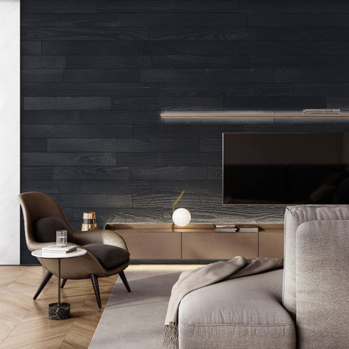 NaturaPlank Peel and Stick Wood Wall Cladding - Ebony