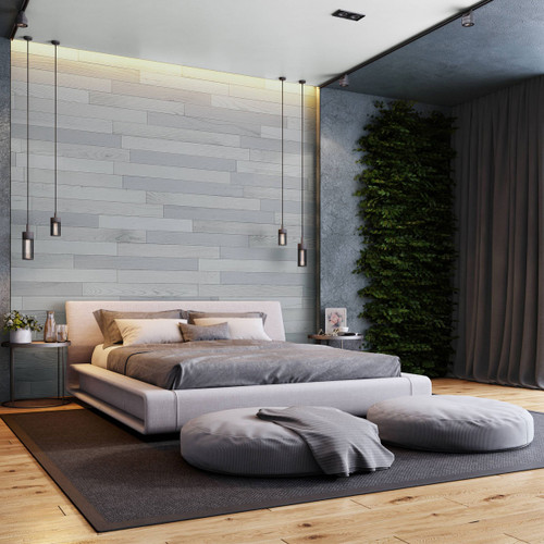 NaturaPlank Peel and Stick Wood Wall Cladding - Pewter