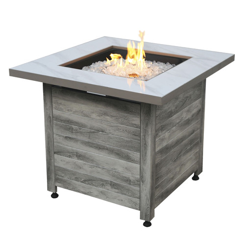 """The Chesapeake - LP Gas Outdoor Fire Pit w/ 30"""" Faux Marble Top"""