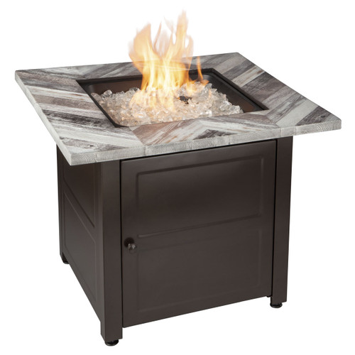 The Duval - LP Gas Outdoor Fire Pit w/ Printed Resin Mantel