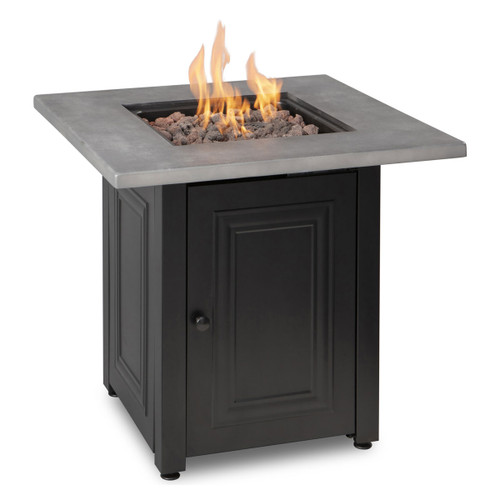 The Wakefield - LP Gas Outdoor Fire Pit w/ Concrete Resin Mantel